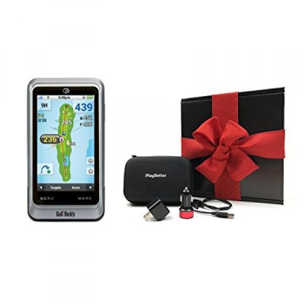 GolfBuddy PT4 Handheld Golf GPS GIFT BOX Bundle | Include...