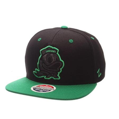 University of Oregon Ducks Snapback Hat Zephyr Z11 Phantom Black Cap