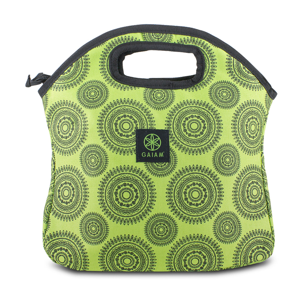 Lunch Bags For Women, Tote Reusable Insulated Lunch Sacks, Green Marrakesh