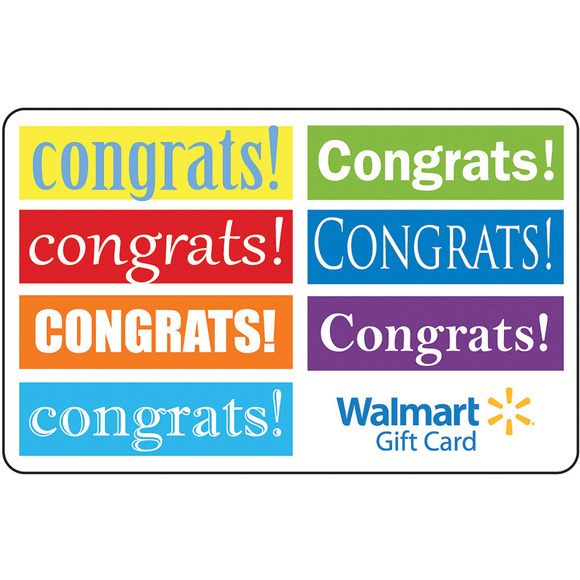 Congrats Text Gift Card