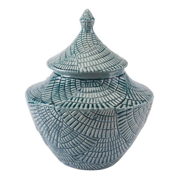 Escalera Small Covered Jar Mint