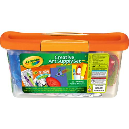 Crayola Creative Art Supply Set for Kids 5+ with Storage