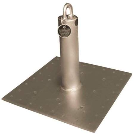Qualcraft Industries CB-12 Roof Anchor, 130 - 310 lb, 16 in L x 16 in W, Steel, Galvanized,