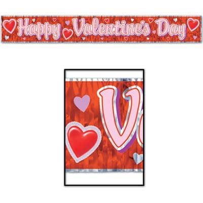 Metallic Happy Valentine's Day Fringe Banner - Metallic Fringe Banner
