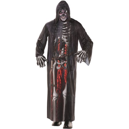 Grim Reaper Photo Real Robe Men's Adult Halloween Costume