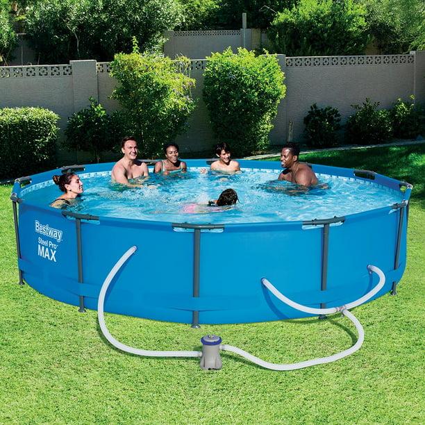 Bestway Steel Pro Max Swimming Pool Set With 330 Gph Filter Pump 12 X 30 Walmart Com Walmart Com