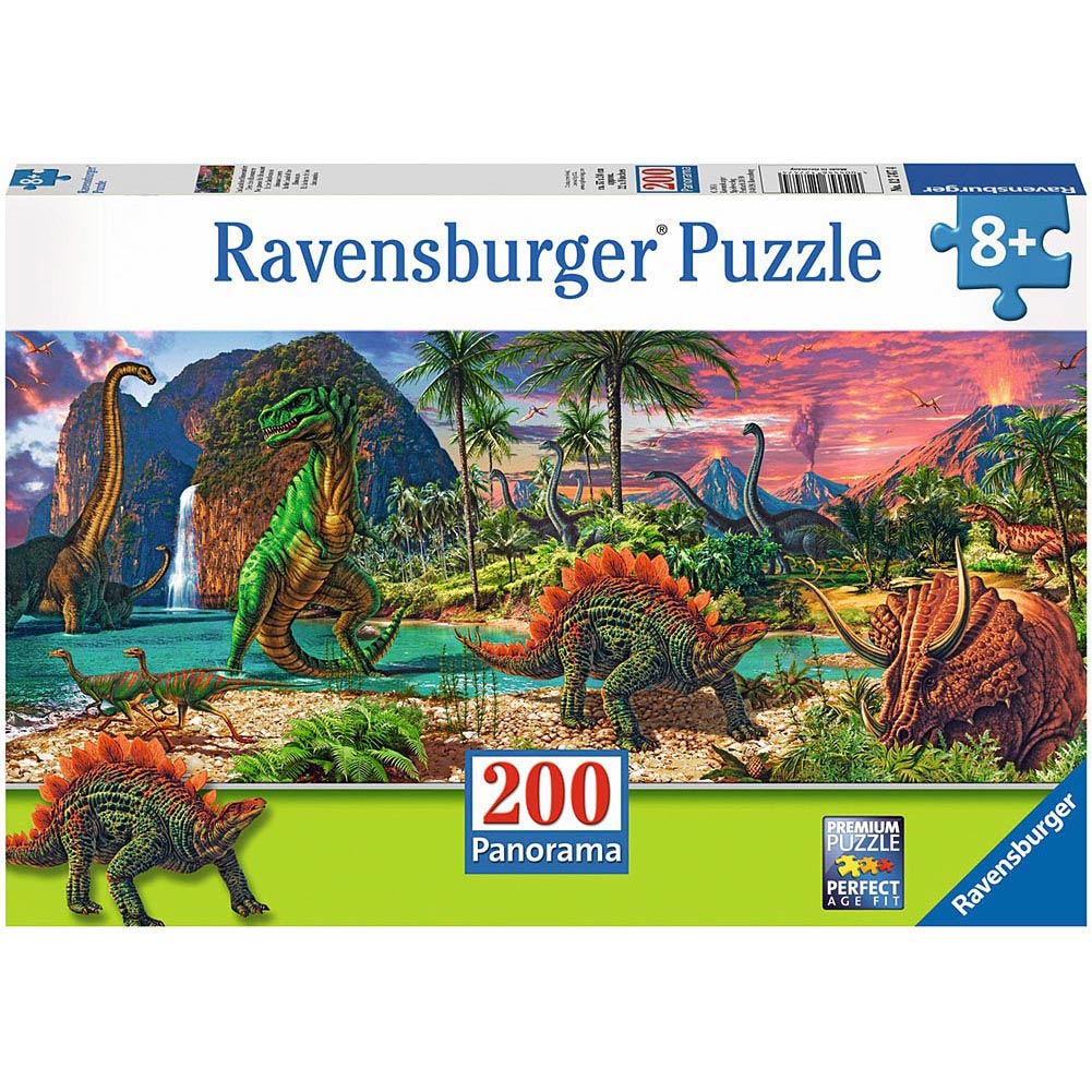 In the Land of Dinosaurs 200 Piece Puzzle