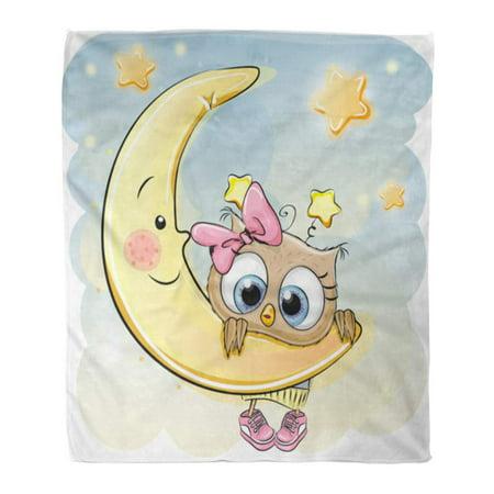 Sidonku Throw Blanket 58x80 Inches Blue Dreams Cute