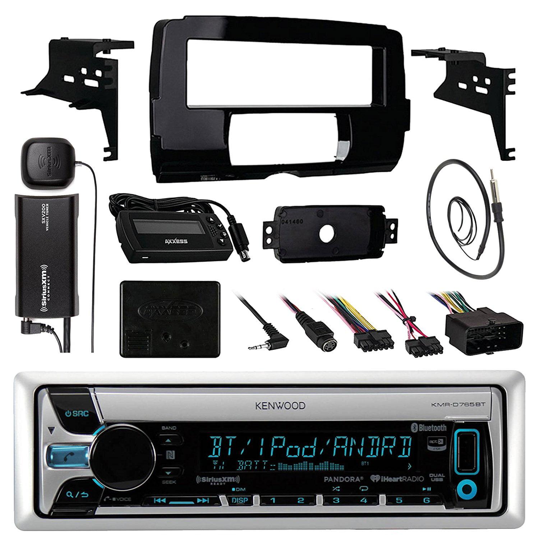 Audio Bundle For 2014 and Up Harley -Kenwood KMRD765BT Ma...