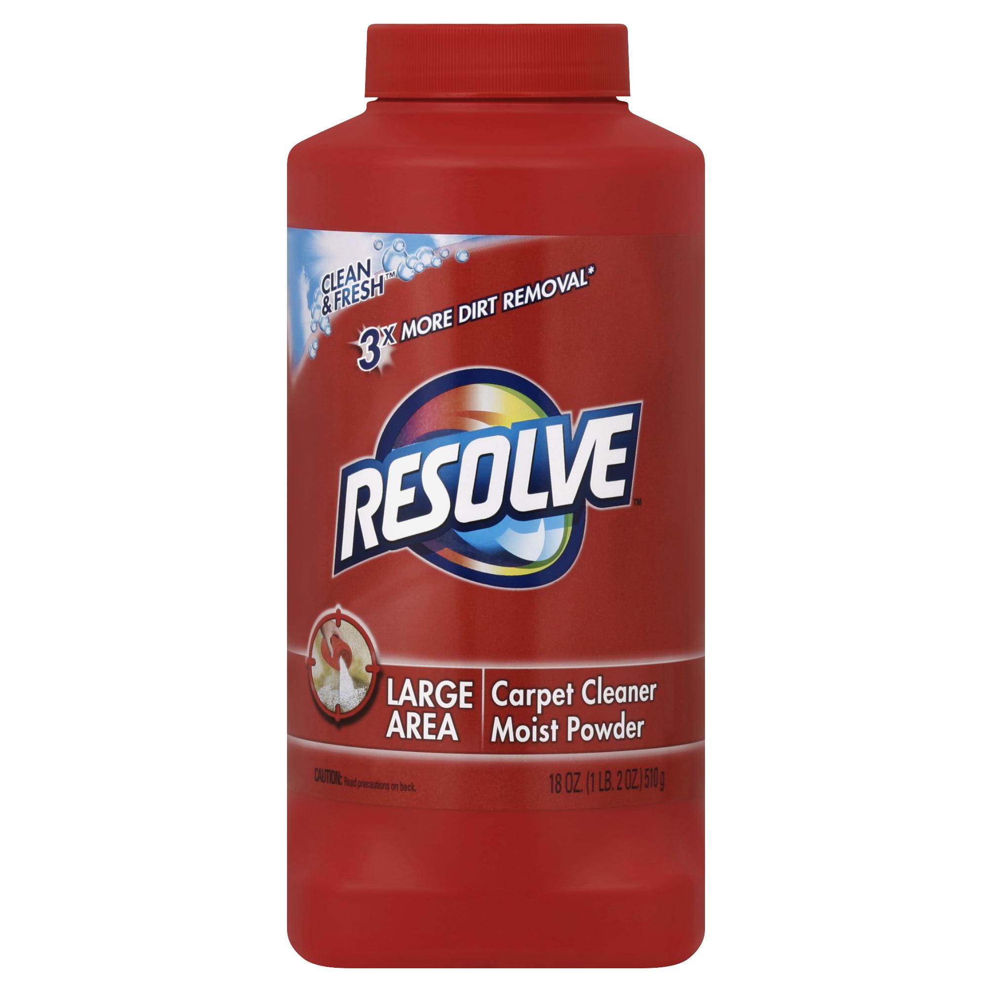 Resolve Carpet Cleaner Moist Powder, 18 Ounce