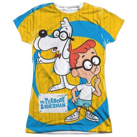Mr Peabody   Sherman Explanation Juniors Sublimation Shirt