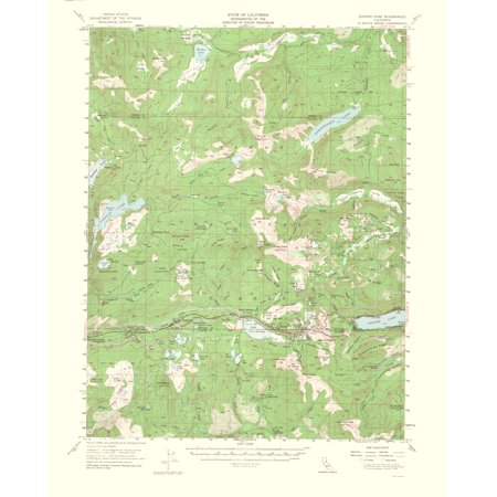 Topographical Map Print - Donner Pass California Quad - USGS 1964 - 23 x  28.52