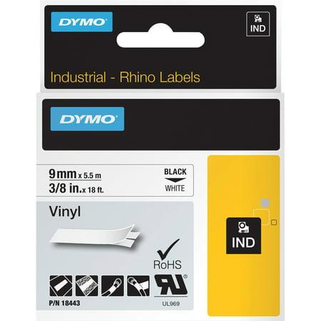 Dymo, DYM18443, Rhino Industrial Vinyl Labels, 1 Each, White