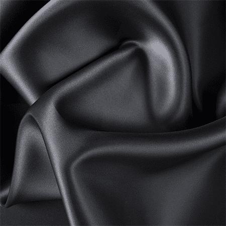 Black Silk Satin Organza, Fabric By the Yard