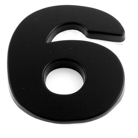 Unique Bargains Self Adhesive Number 6 Shaped Car Sticker Decals Badges Emblem Black