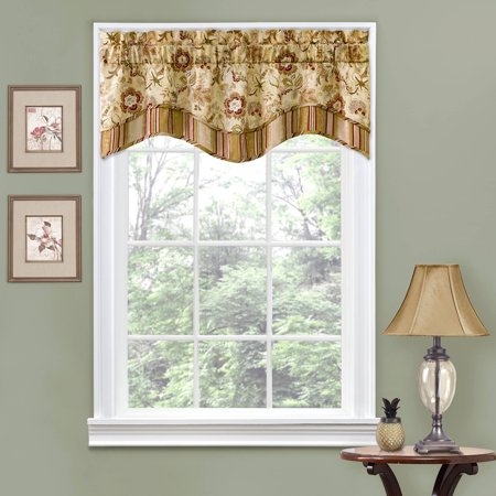 Traditions by Waverly Navarra Floral Window Curtain Valance ()