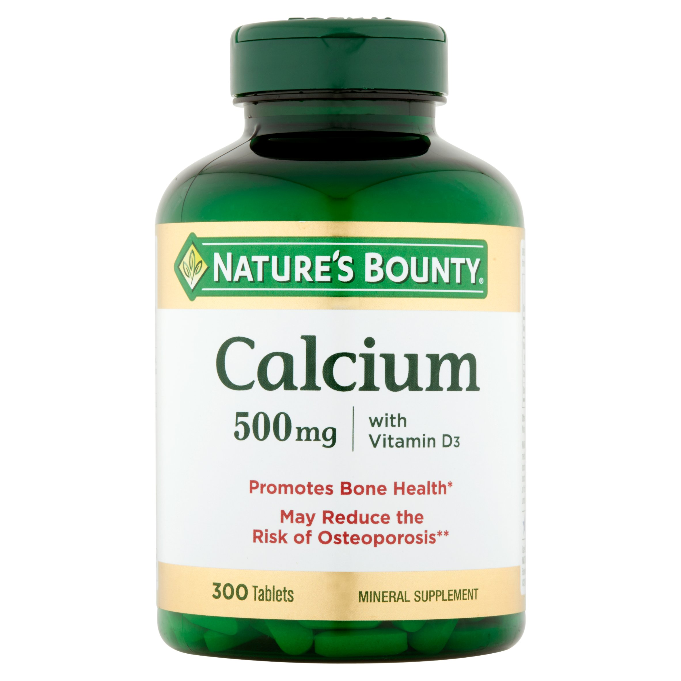 Nature's Bounty Calcium with Vitamin D3, 500 mg, 300 Tablets