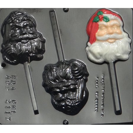 2048 Santa Face Pop Lollipop Chocolate Candy Mold