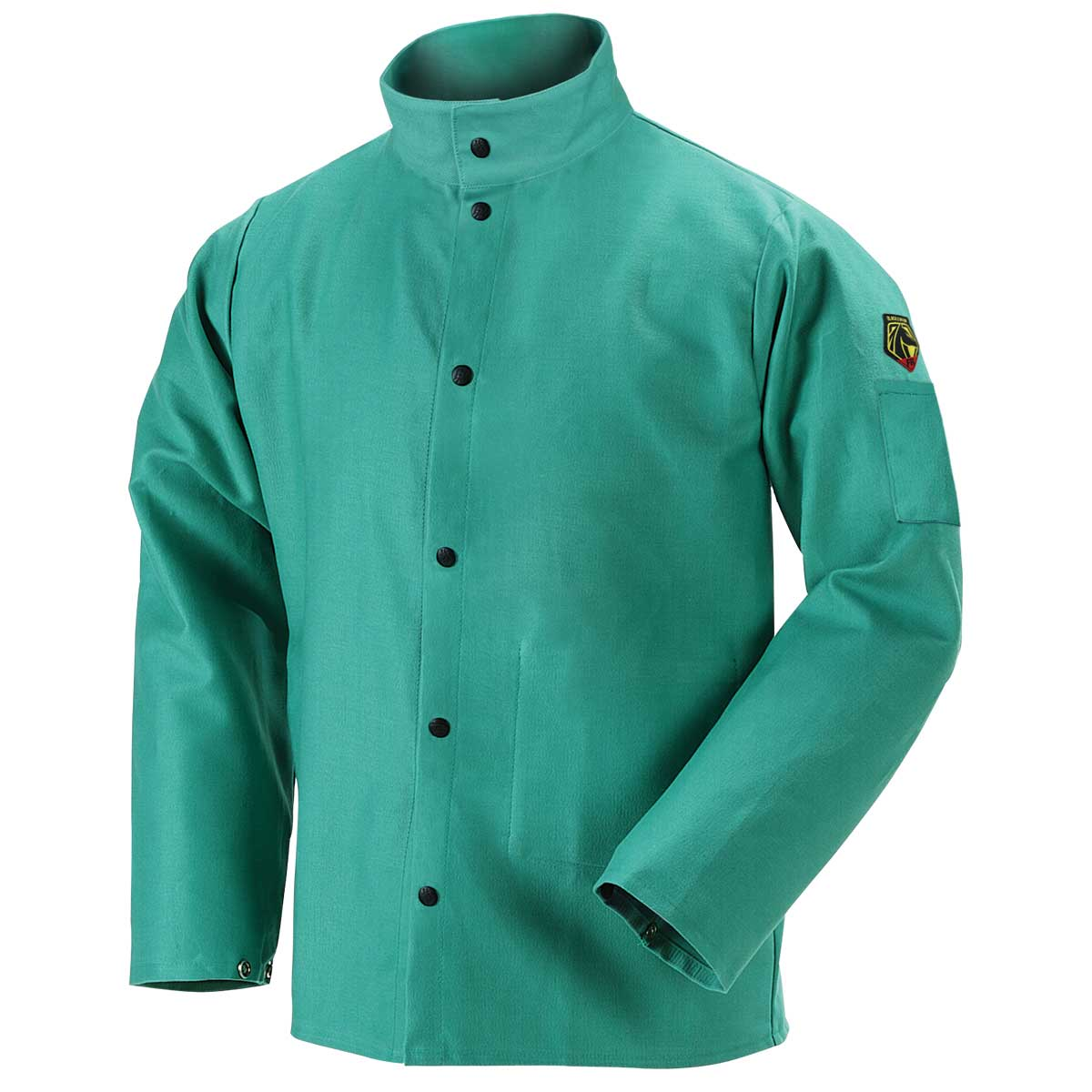 "Black Stallion F9-30C 30"" 9oz. Green FR Cotton Welding Jacket, X-Large"