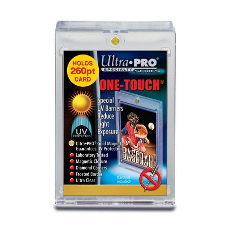 One Touch UV Card Holder with Magnet Closure - 260pt Card Holder Magnet
