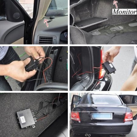 LCD Car Parking Sensor Rear Reverse Backup Radar Alarm Kit System w/ 8 Sensors - image 7 de 10