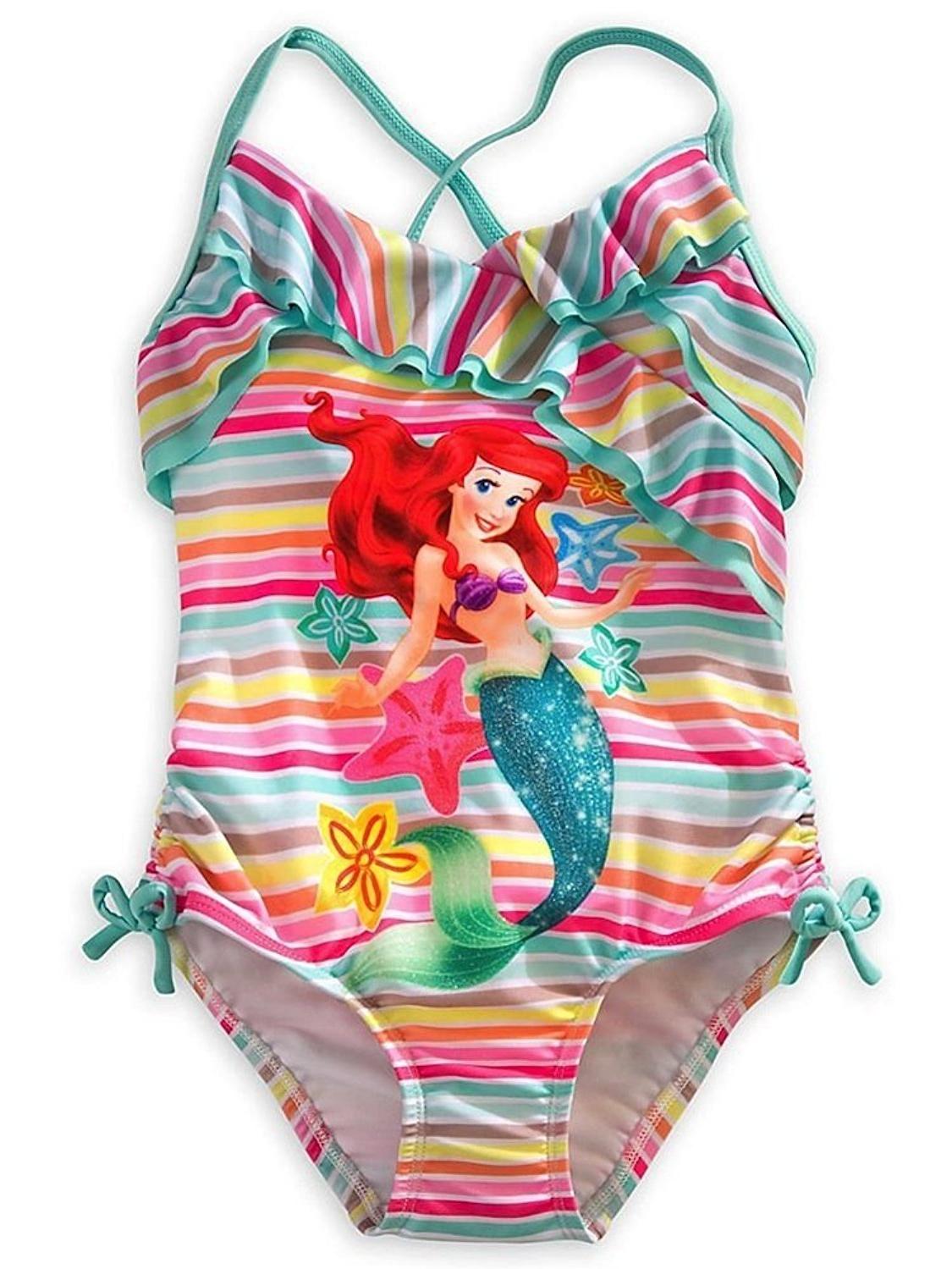 Ariel - The Little Mermaid - Sea Green Rainbow Swimsuit for Girls