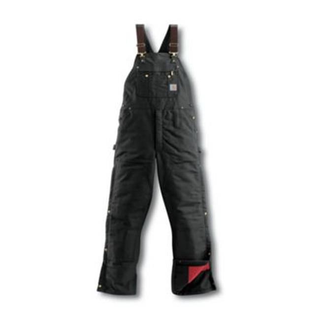 Carhartt Men/'s Quilt Lined Zip To Thigh Bib Overalls R41 Work Job Construction