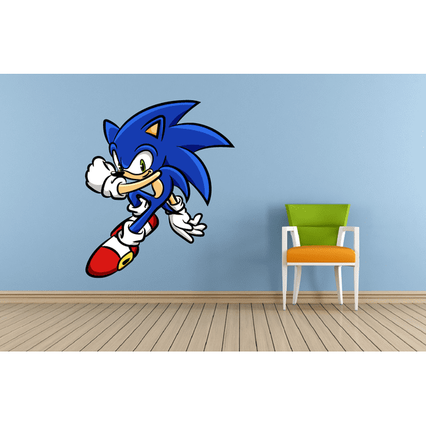 Super Sonic The Hedgehog Smash Video Game Inspired Cartoon Character Wall Art Vinyl Sticker Decal Baby