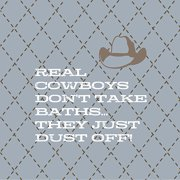 Forest Creations Real Cowboys Don't Take Baths Kids Canvas Art