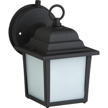 Black Energy Star Outdoor Post - Outdoor Lantern, 13 Watt, Black, Frosted Glass, Energy Star No. 321081
