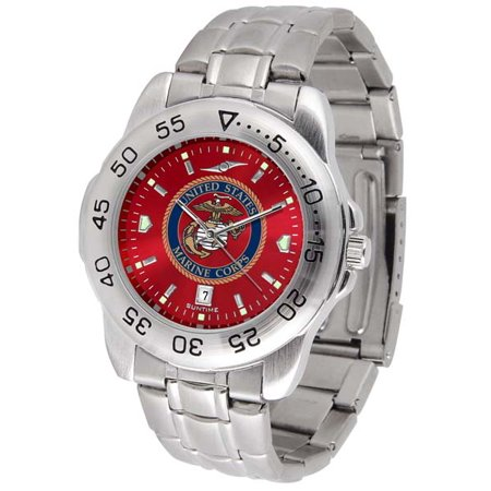 Florida Gators Sport Steel Watch (US Marines Sport Anonized Men's Steel Band Watch )
