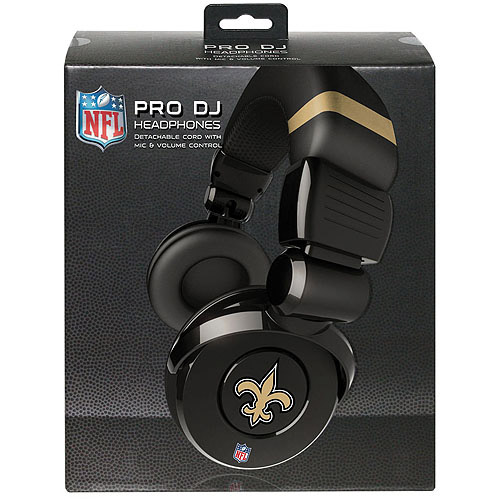 Ihip Pro Dj Headphones With Microphone - New Orleans Saints New Orleans Saints HPFBNORDJPRO