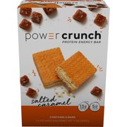 Power Crunch Protein Energy Bar, Salted Caramel, 13g Protein, 5 Ct