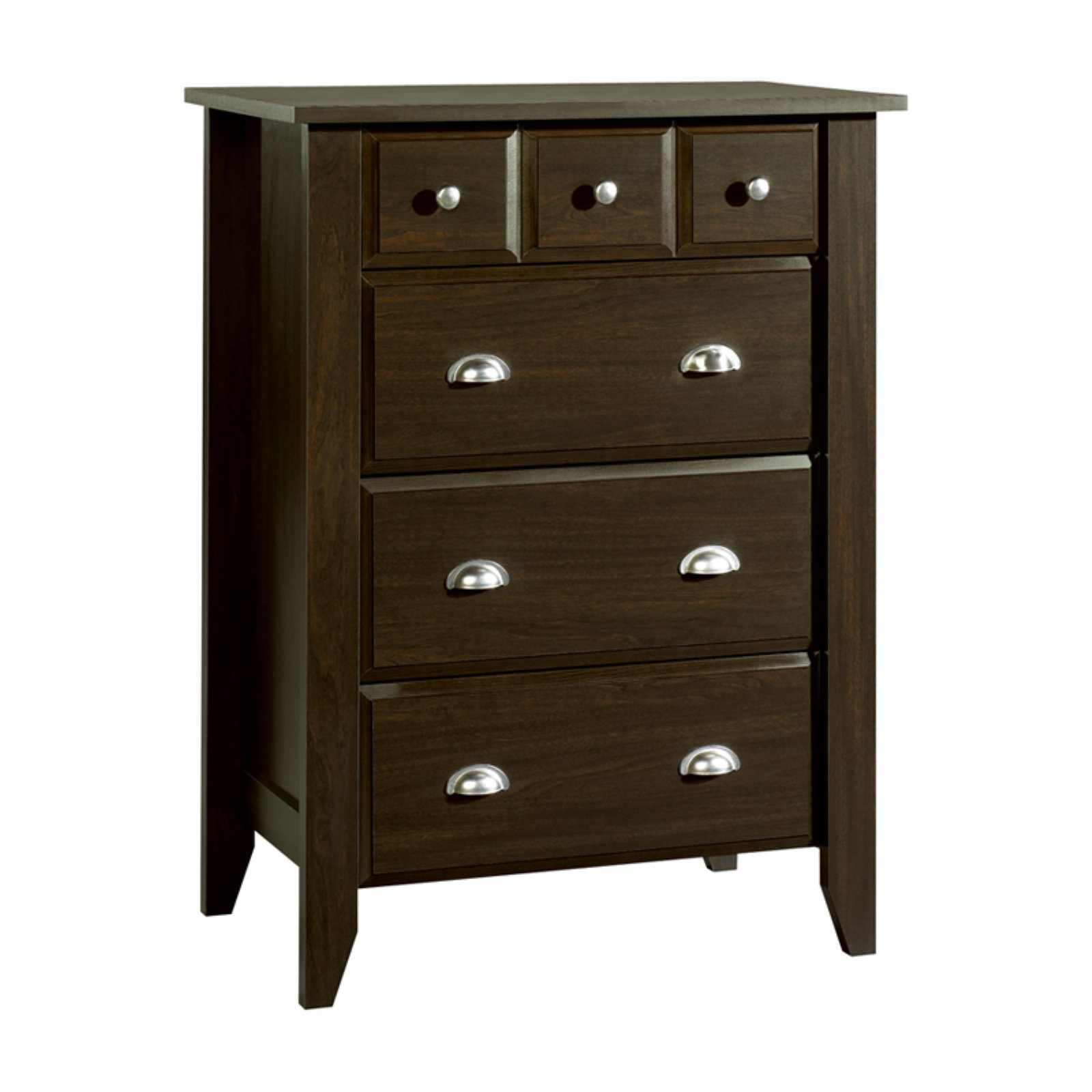 Child Craft Relaxed Traditional 4 Drawer Chest, Jamocha by Foundations Worldwide, Inc.