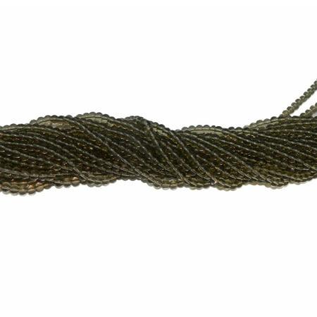 6mm Smokey Topaz GLASS Round, Loose Beads, 40cm 15 inch Gemstone Smokey Topaz Stone