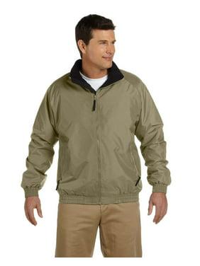Branded Harriton Adult Fleece-Lined Nylon Jacket - BRIT KHAKI/ BLK - XL (Instant Saving 5% & more on min 2)