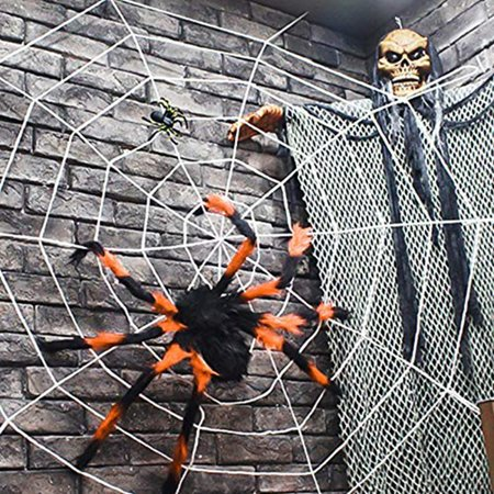 Halloween Party Games For 2-3 Year Olds (Outdoor Halloween Decorations, Scary Spider with Spider Web, Best for Halloween Party Decorations, Party Favors)