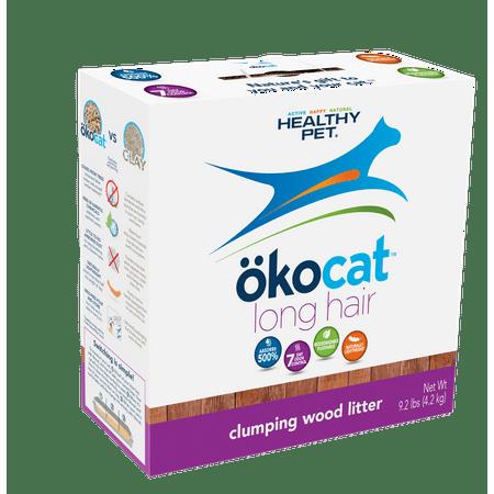 Wood Cat - Okocat Long Hair Breeds Clumping Wood Cat Litter, 9.2-lb