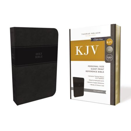 KJV, Reference Bible, Personal Size Giant Print, Imitation Leather, Black, Red Letter Edition