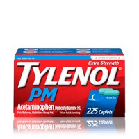 Tylenol PM Extra Strength Pain Reliever & Sleep Aid Caplets, 225 ct