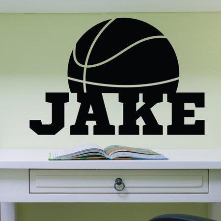 Alphabet garden designs basketball personalized wall decal for Alphabet garden designs