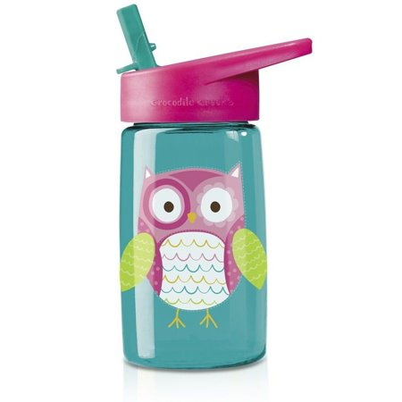 Tritan Water Bottle - Owl - Kitchen Play by Crocodile Creek (1040-4) (Crocodile Creek Plates)