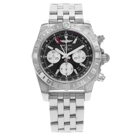 Breitling Chronomat GMT Black Dial Steel Mens Automatic Watch AB042011/BB56-375A
