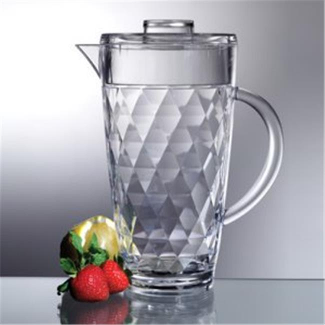 Anchor Hocking 64 Ounce Bistro Clear Glass Pitcher With Stopper