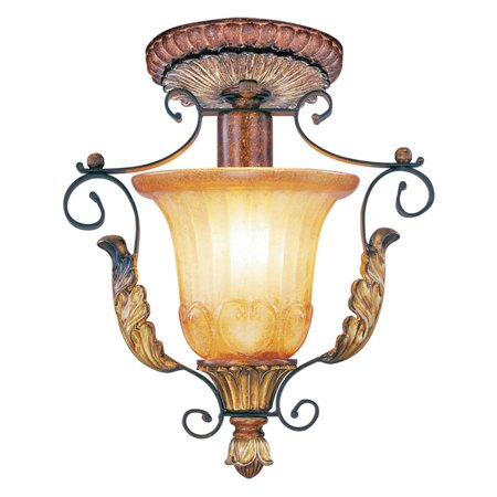 10.25 Inch Three Light - Livex Lighting Villa Verona 1 Light Ceiling Mount