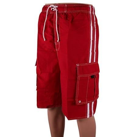 238c670798 North 15 - North 15 Men's Board Beach Swim Trunks Shorts with Cargo  Pokcets-5104-Rd-Md - Walmart.com