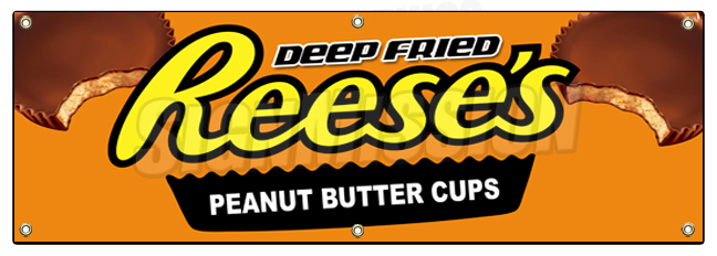 DEEP Fried Cheese Cake Bites 13 oz Heavy Duty Vinyl Banner Sign with Metal Grommets Store Many Sizes Available Flag, New Advertising