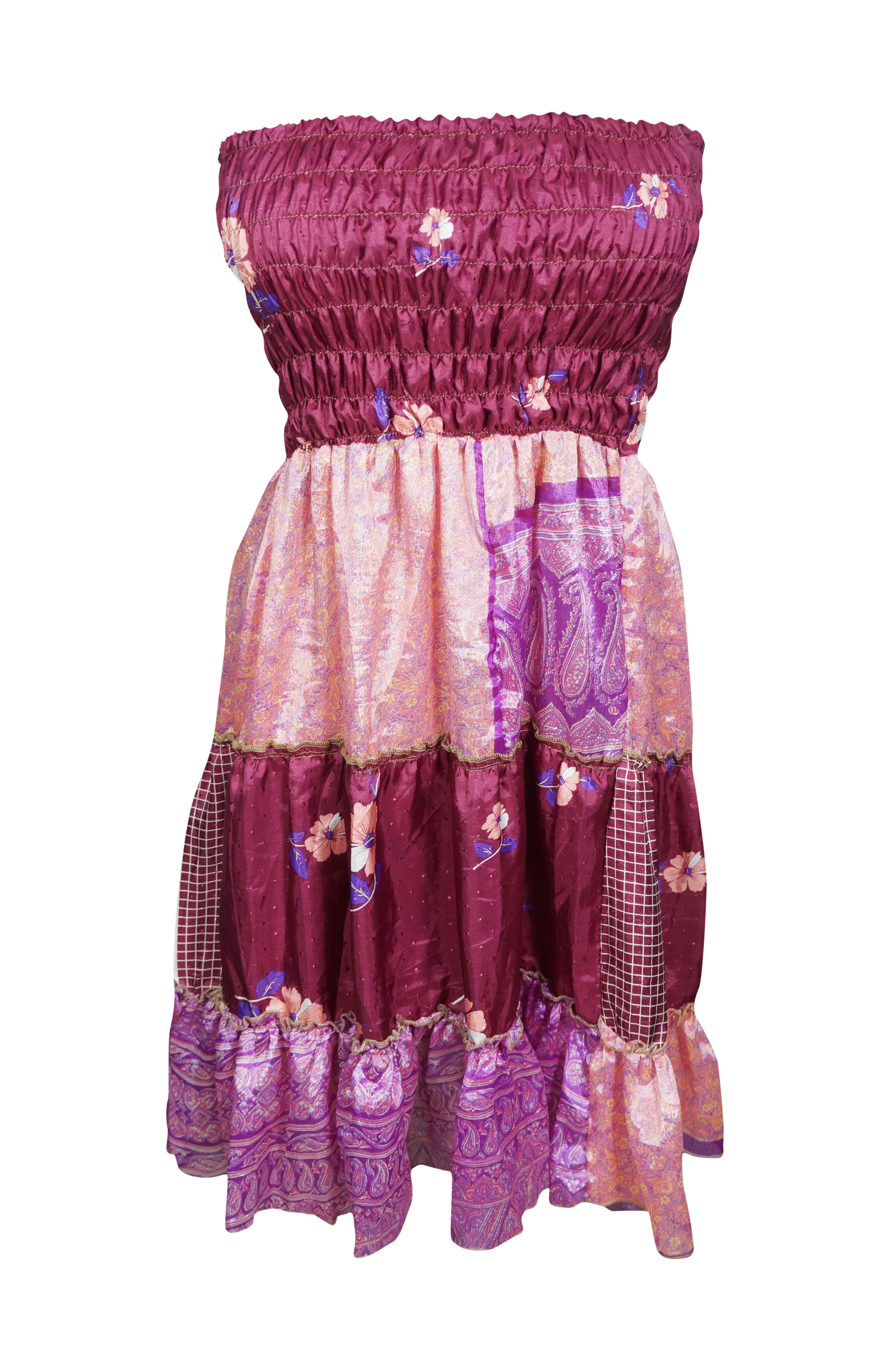 2fe1afcc6895c Mogul Interior - Mogul Womens 2 In 1 Printed Strapless Dress Skirt ...