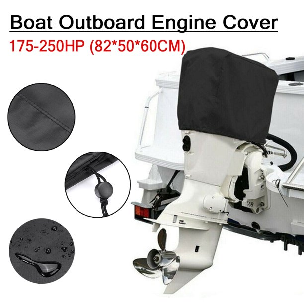 210D Oxford Waterproof Anti-sunlight Full Outboard Motor Engine Boat Cover For Up to 15-250HP
