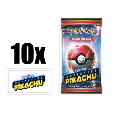 Pokemon TCG - Detective Pikachu Booster Packs - Ten (10) Count Booster Pack Lot. Pokemon Trading Card Game Detective Pikachu Set ()